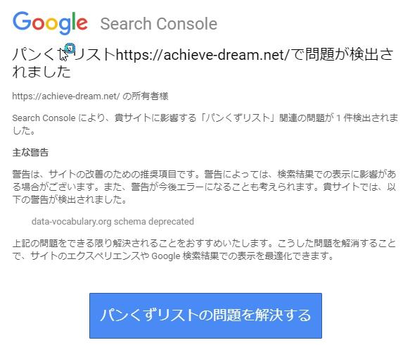 グーグルからのメールの内容